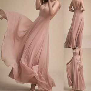 NWT Bhldn Jenny Yoo Colby dress Whipped Apricot 18